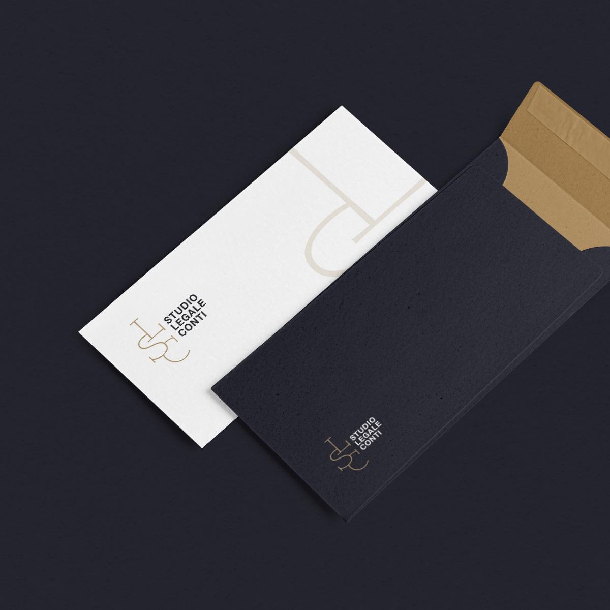 Studio legale Conti - immagine coordinata Rieti - constant design